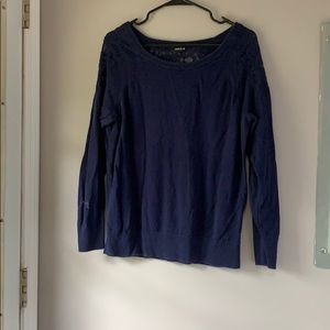 Torrid Navy Blue sweater w/ lace cut outs